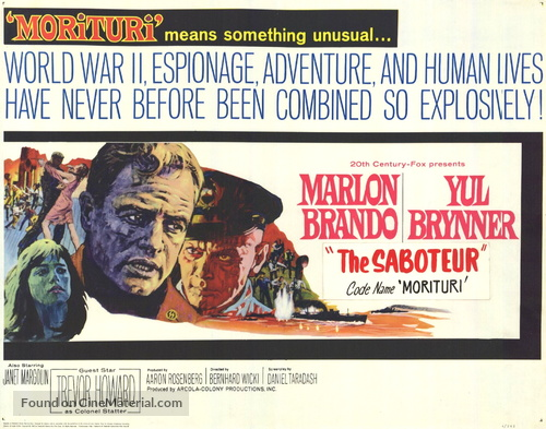 Morituri - Movie Poster