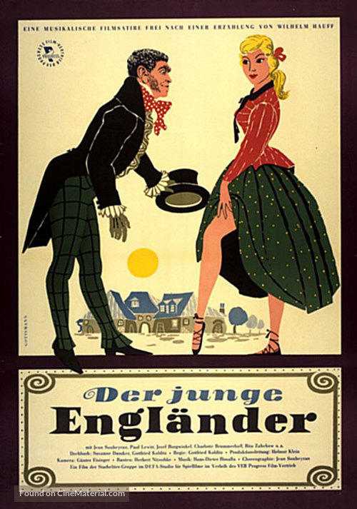 Das Stacheltier - Der junge Engländer - German Movie Poster