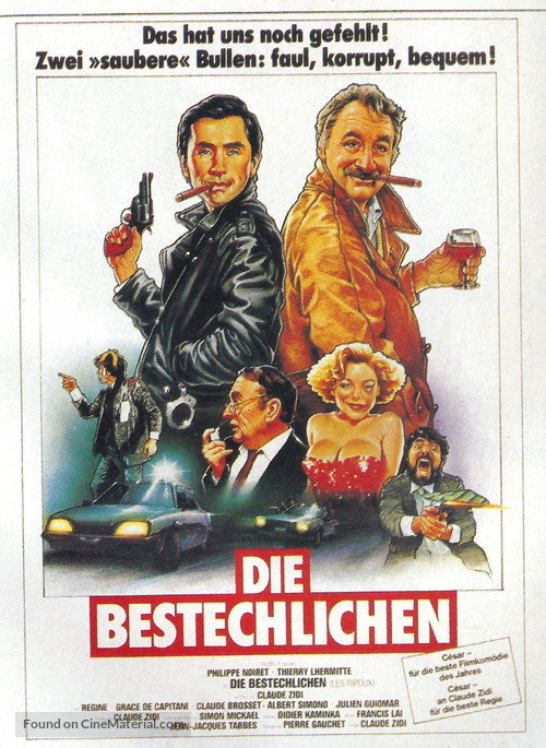 Les ripoux - German DVD movie cover