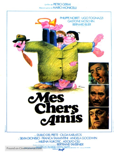 Amici miei - French Movie Poster