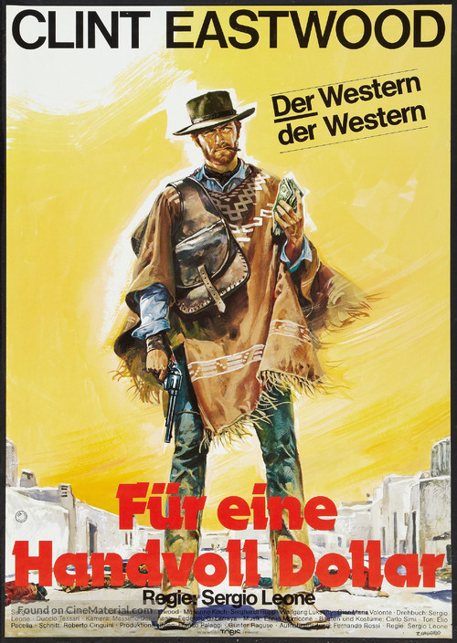 Per un pugno di dollari - German Movie Poster