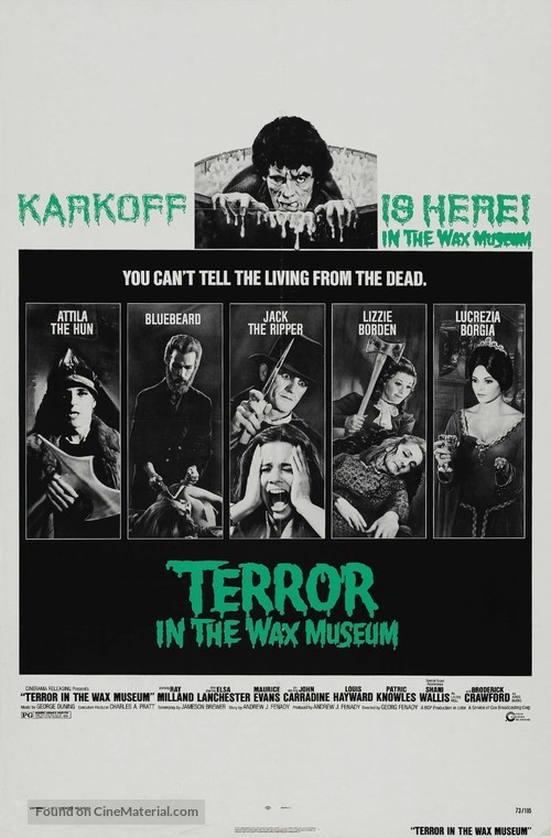 Terror in the Wax Museum - Movie Poster