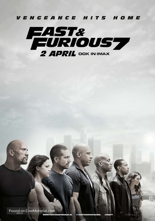 Furious 7 - Dutch Movie Poster