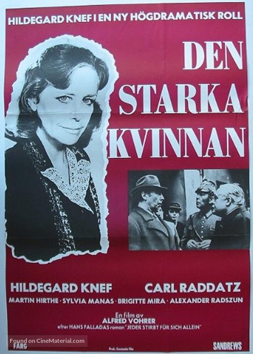Jeder stirbt für sich allein - Swedish Movie Poster