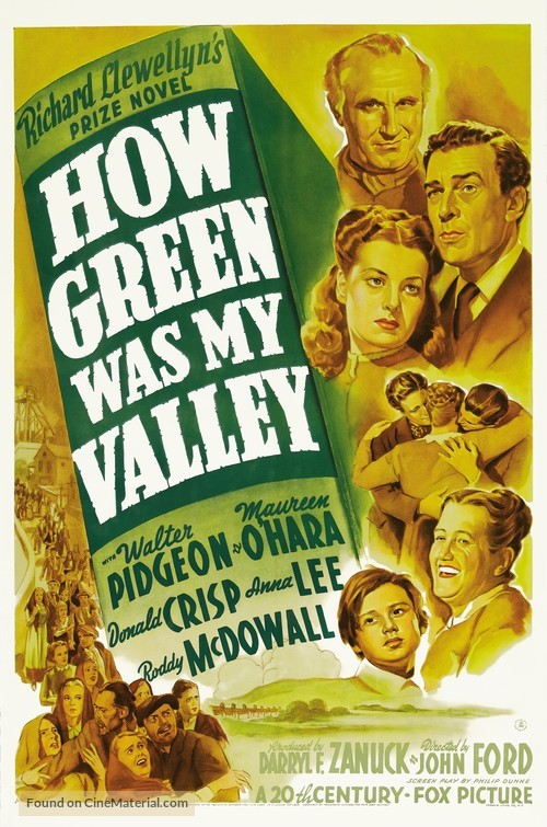 How Green Was My Valley - Movie Poster