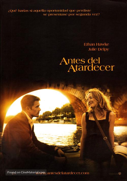Before Sunset - Spanish Movie Poster