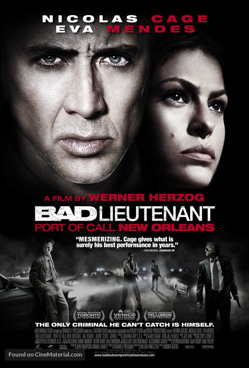 The Bad Lieutenant: Port of Call - New Orleans - Movie Poster