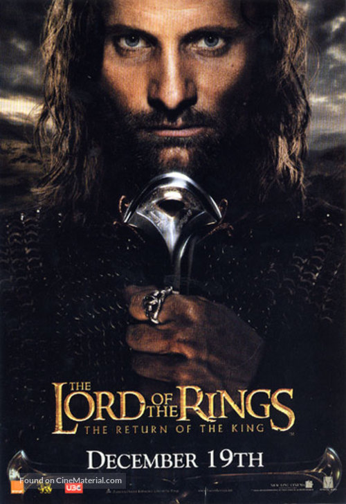 The Lord of the Rings: The Return of the King - Thai Movie Poster