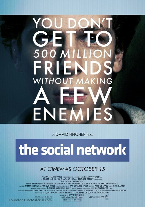 The Social Network - British Movie Poster