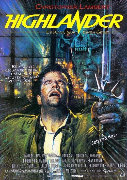 Highlander - German Movie Poster