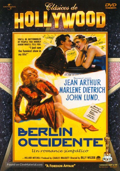 A Foreign Affair - Spanish DVD movie cover