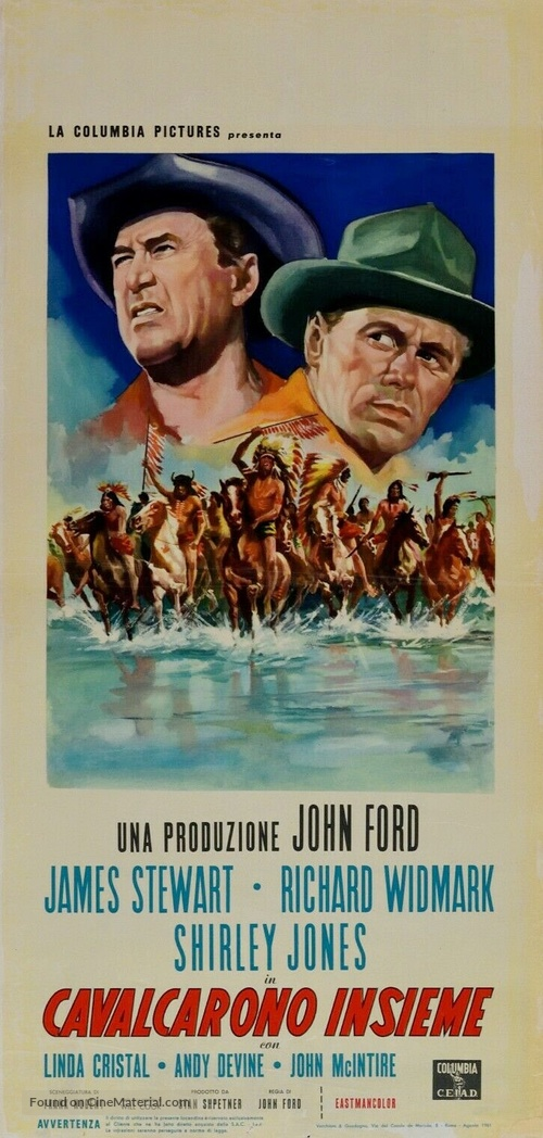 Two Rode Together - Italian Movie Poster