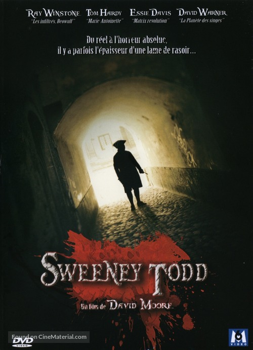 Sweeney Todd - French DVD movie cover