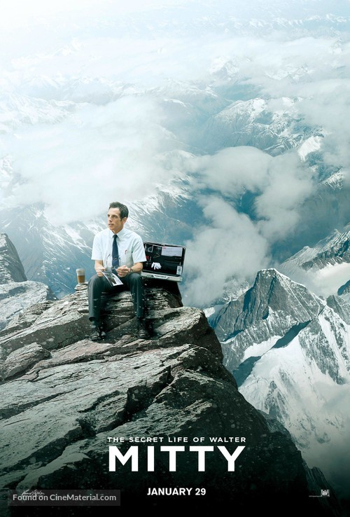 The Secret Life of Walter Mitty - Malaysian Movie Poster