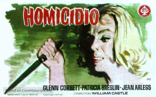 Homicidal - Spanish Movie Poster