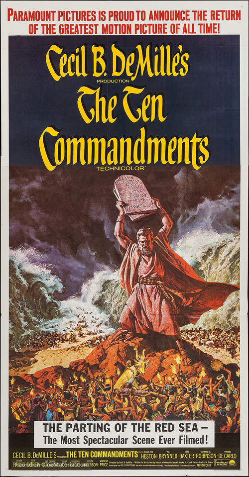 The Ten Commandments - Movie Poster