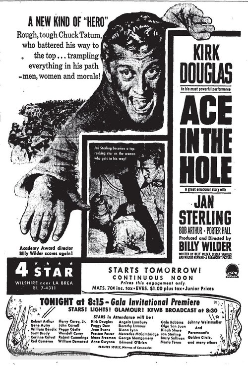 Ace in the Hole - poster