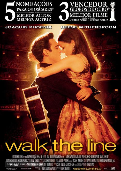 Walk the Line - Portuguese Movie Poster