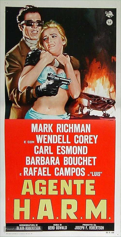 Agent for H.A.R.M. - Italian Movie Poster
