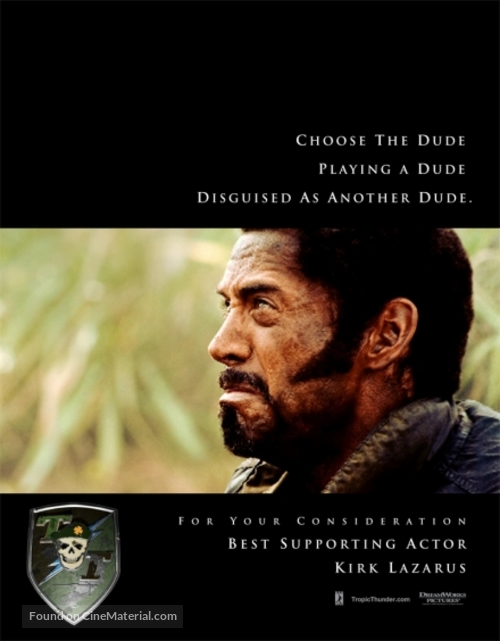 Tropic Thunder - For your consideration poster
