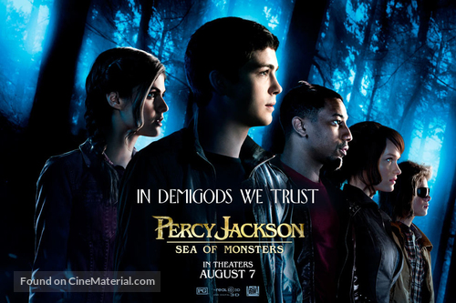 Percy Jackson Sea Of Monsters 2013 Movie Poster