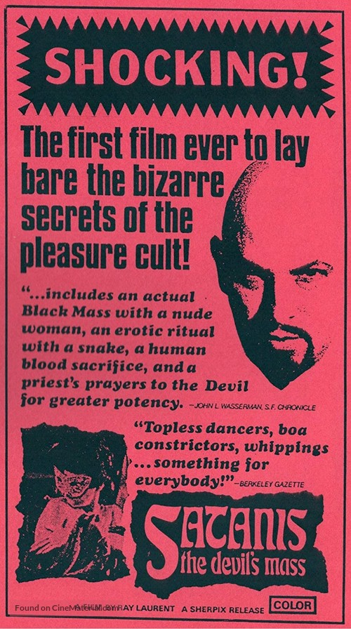 Satanis: The Devil's Mass - Movie Poster
