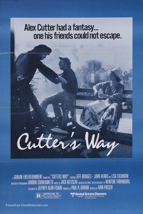 Cutter's Way - Movie Poster