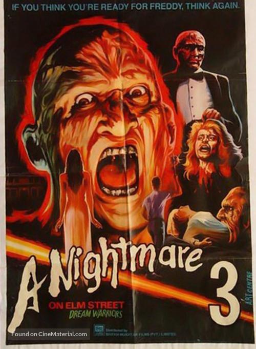 A Nightmare On Elm Street 3: Dream Warriors - Pakistani Movie Poster