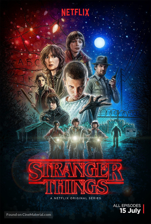 """Stranger Things"" - British Movie Poster"