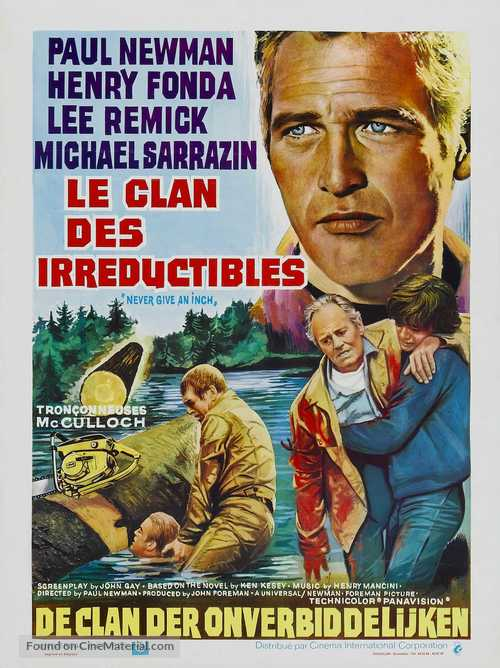 Sometimes a Great Notion - Belgian Movie Poster