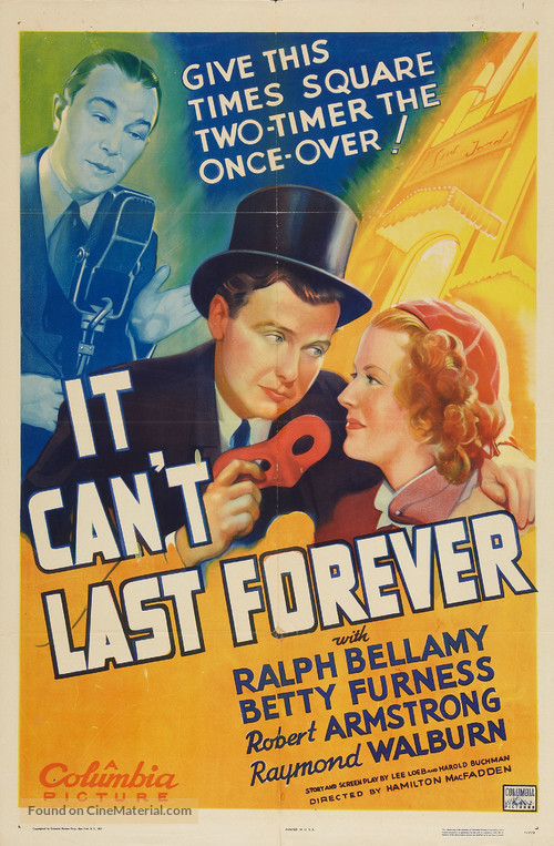 It Can't Last Forever - Movie Poster