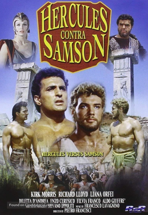 Ercole sfida Sansone - Spanish DVD movie cover