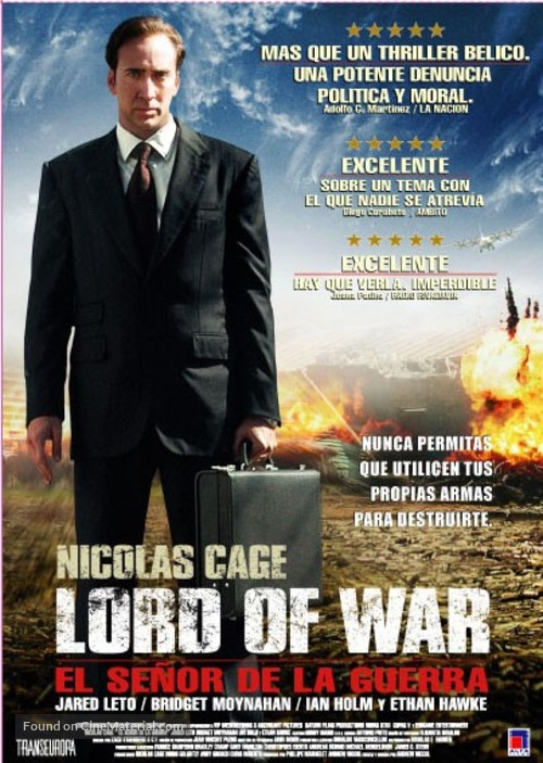 lord of war argentinian movie poster
