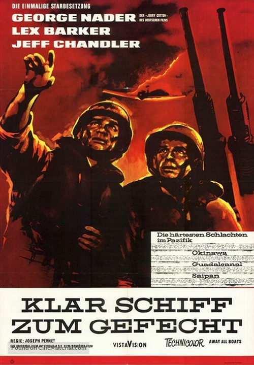 Away All Boats - German Movie Poster