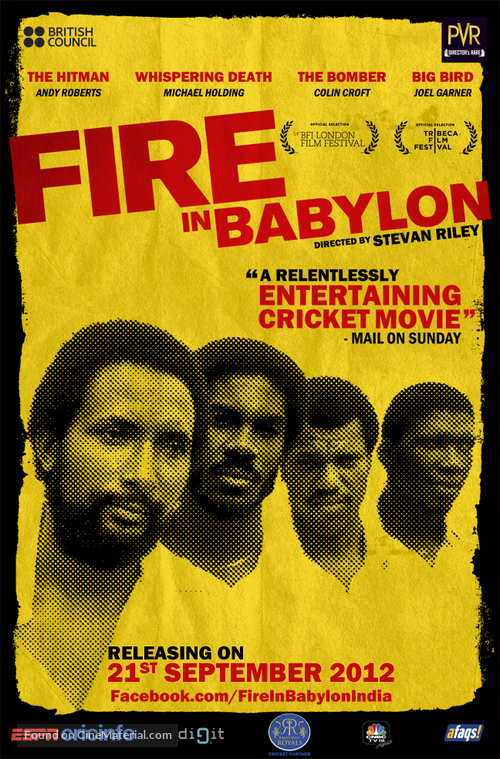 Fire in Babylon - Indian Movie Poster