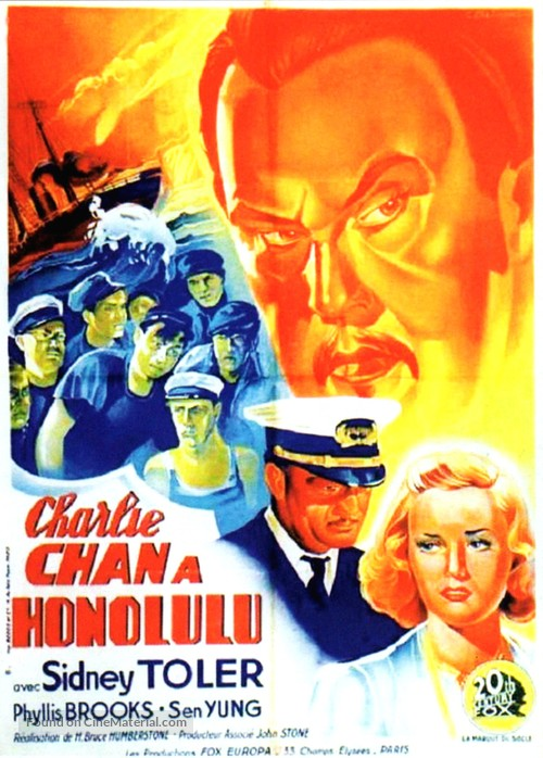 Charlie Chan in Honolulu - French Movie Poster
