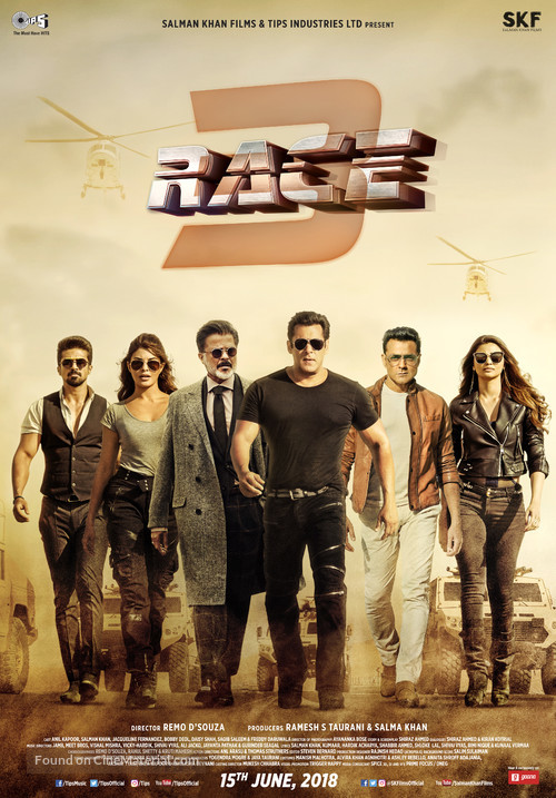 race 3 indian movie poster