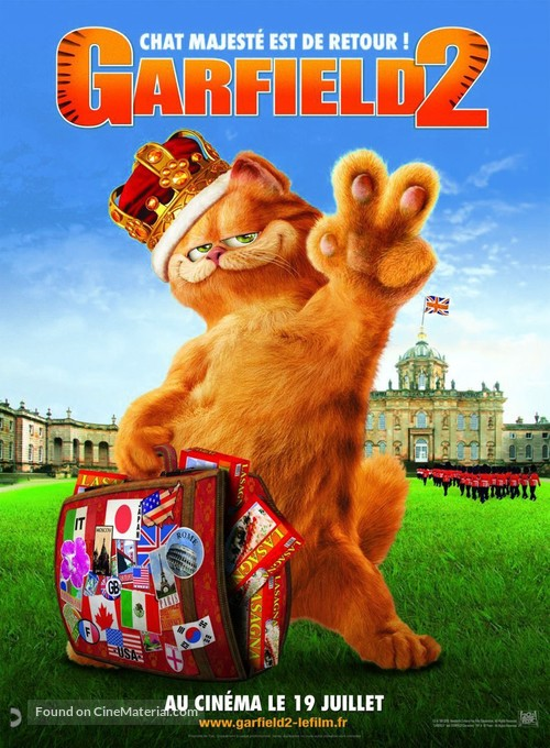 Garfield A Tail Of Two Kitties 2006 French Movie Poster