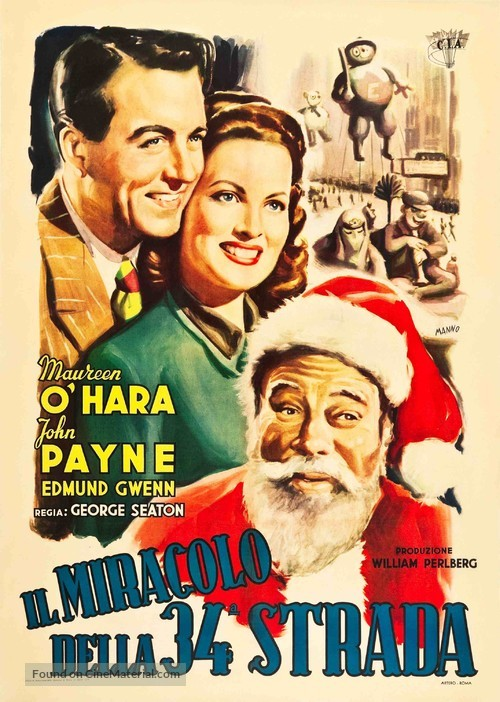 miracle on 34th street italian movie poster