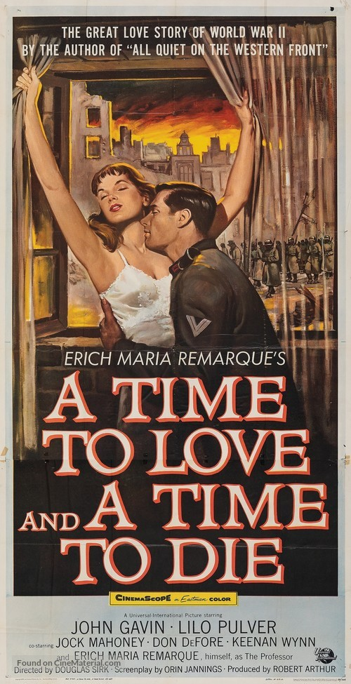 A Time to Love and a Time to Die - Movie Poster