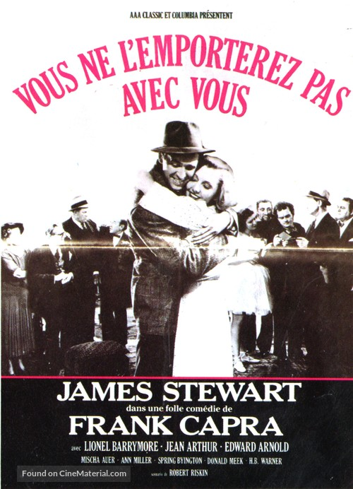 You Can't Take It with You - French Movie Poster