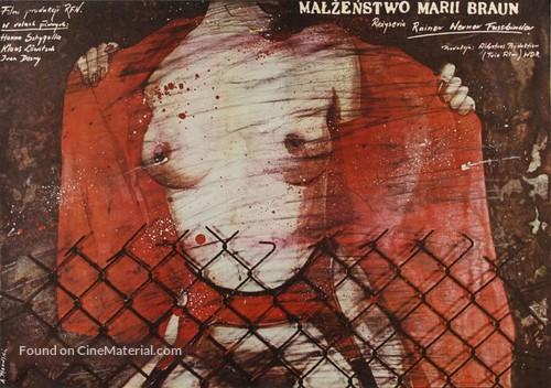 Die ehe der Maria Braun - Polish Movie Poster