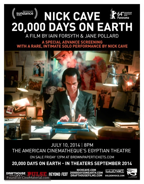 20,000 Days on Earth - Movie Poster