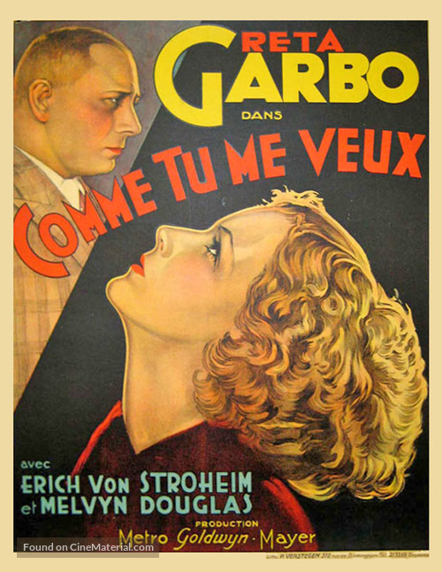 As You Desire Me - French Movie Poster