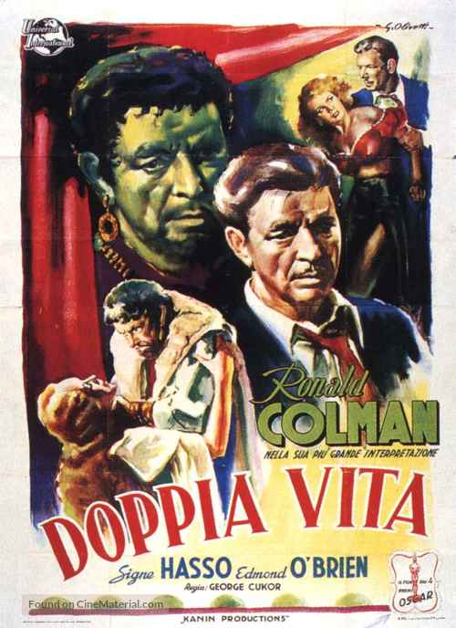 A Double Life - Italian Movie Poster