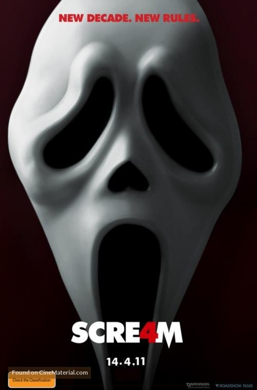 Scream 4 - Australian Movie Poster