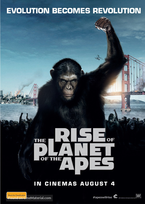 Rise of the Planet of the Apes - Australian Movie Poster