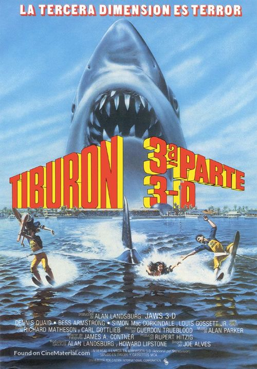 Jaws 3D - Spanish Movie Poster
