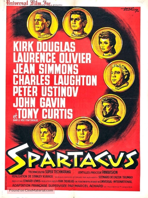 Spartacus - French Movie Poster