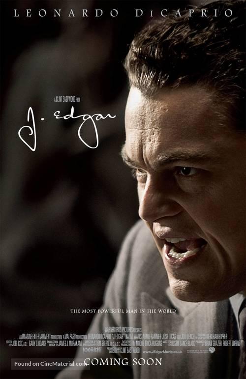 J. Edgar - British Movie Poster